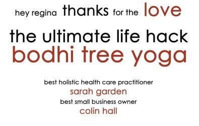 Bodhi Tree Yoga voted Best in Regina