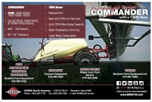 The Intelligent Sprayer. COMMANDER with a TWIN Boom.