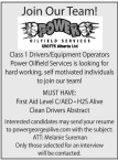 Class 1 Drivers/Equipment Operators