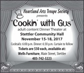 """Heartland Arts Troupe Society presents """"Cookin' with Gus"""""""