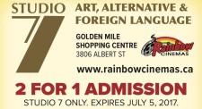 2 FOR 1 ADMISSION at Rainbow Cinemas