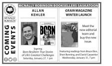 BOOK SELLER McNALLY ROBINSON  COMING EVENTS