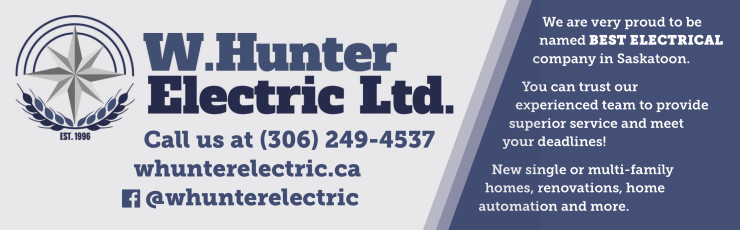 W.hunter  Proud To Be Named Best Electrical Company In Saskatoon
