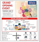 GRAND OPENING EVENT THURSDAY, JUNE 29