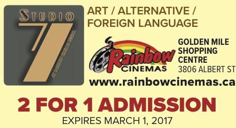 2 For 1 Admission At Rainbow Cinemas