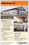 Unreserved Public Real Estate Auction WMJ Metals Ltd. Hardisty, AB - October 25