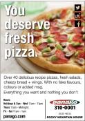 You deserve fresh pizza.