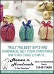 GET YOUR CHRISTMAS KNITTING STARTED WITH Heaven is Handmade