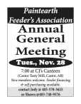Paintearth Feeder's Association  Annual General Meeting