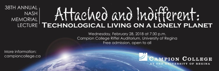 38th Annual Nash Memorial Lecture