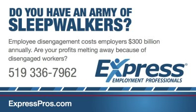 DO YOU HAVE AN ARMY OF SLEEPWALKERS?