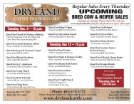 UPCOMING BRED COW & HEIFER SALES
