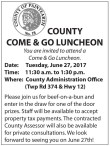 COUNTY COME & GO LUNCHEON
