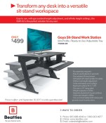 Transform any desk into a versatile sit-stand workspace