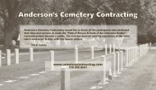 Anderson's Cemetery Contracting Thanks