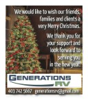We would like to wish our friends, families and clients a very Merry Christmas.