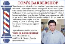 TOM'S BARBERSHOP