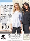 Join us... FALL INTO FASHION  Show & Lunch Oct. 3rd at Noon