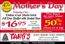 Mother's Day  Featuring Our... Deluxe East Meets West All Day Buffet with Salad Bar