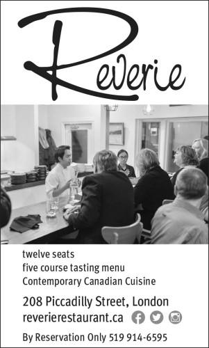 Five course tasting menu at Reverie
