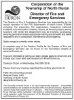 Director of Fire and Emergency Services wanted
