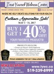 Customer Appreciation Sale! MAY 1 - 31, 2017