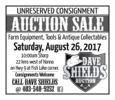Auction Sale: Farm Equipment, Tools & Antique Collectibles