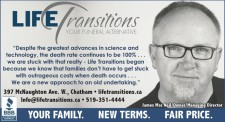 LIFE Transitions YOUR FUNERAL ALTERNATIVE.