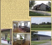 56 Acre farm in Brantford 2 year New, custom two-story all brick home on a small country road
