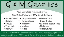 "G & M GRAPHICS ""Your Complete Printing Service"""