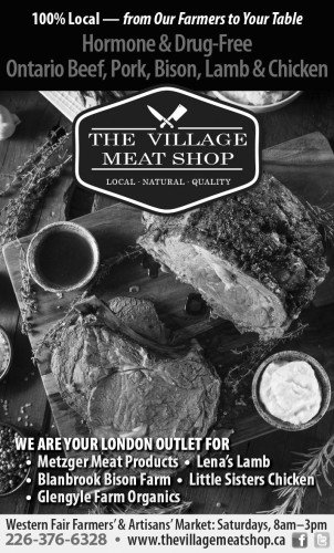 Ontario Beef, Pork, Bison, Lamb & Chicken at Village Meat Shop