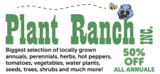 Save on all ANNUALS at the Plant Ranch