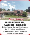 4.6 ac horse farm with stunning 3br, 2 bath 4 level home.