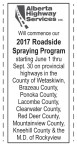 2017 Roadside Spraying Program