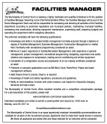 Central Huron  FACILITIES MANAGER wanted