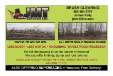 CALL JMT FOR QUICK, CLEAN BRUSH CLEARING