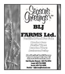 Season's Greetings from BLJ FARMS Ltd.