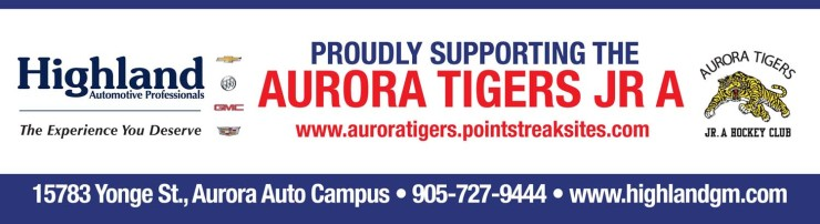 Proudly Supporting The Aurora Tigers Jr A