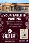 YOUR TABLE IS WAITING