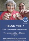 THANK YOU! To our VON Chatham-Kent Volunteers