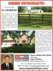 EQUINE ENTHUSIASTS! : RURAL LOCATION IN DUNNVILLE
