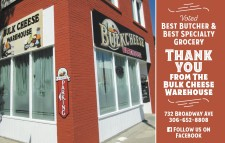 Bulk Cheese Warehouse Voted BEST BUTCHER & BEST SPECIALTY GROCERY