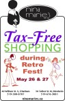 Tax-Free SHOPPING during Retro Fest at Nina Maries