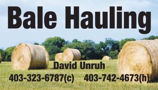 Bale Hauling