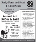 Annual 4-H SHOW & SALE at the Kurt Browning Complex Caroline