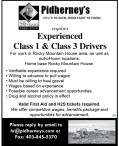 Experienced Class 1 & Class 3 Drivers