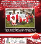 Happy Canada Day from  CHATHAM-KENT ASSOCIATION OF REALTORS