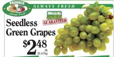 Seedless Green Grapes at Mitchell Brothers