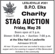 Charity STAG AUCTION Friday, May 26