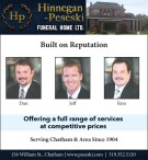 Hinnegan-Peseski FUNERAL HOME Offering a full range of services
